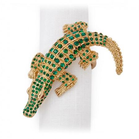 Crocodile napking rings