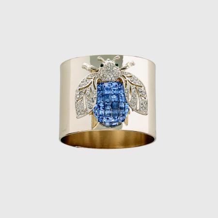 Blue Sparkle Bee Napkin Ring