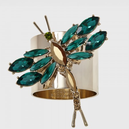 Emerald Dragonfly napking rings