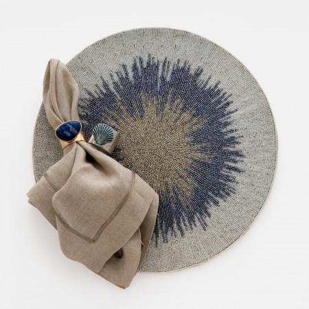 Ombre placemat, blue