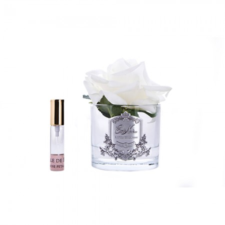 Perfumed Natural Touch Rose in Frost - Ivory White