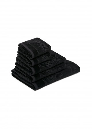 ARABESQUE 5 PIECE TOWEL SET - BLACK