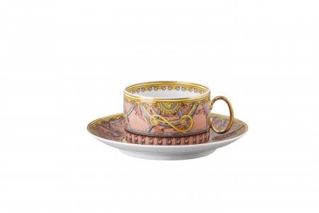 Versace Scala del Palazzo Rosa - Cup & Saucer set 2 pcs.