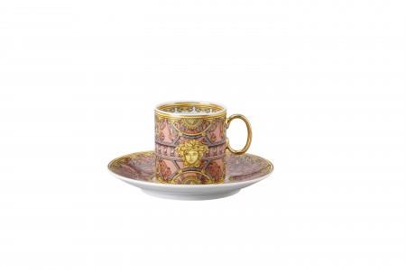 Versace Scala del Palazzo Rosa - Espresso Cup & Saucer set 2 pcs.