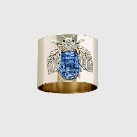 Blue Sparkle Bee Napkin Ring