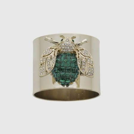 Emerald Sparkle Bee Napkin Ring