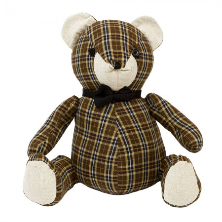TARTAN BEAR DOOR STOPPER