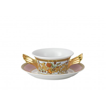 Ikarus Le Jardin de Versace Creamsoup Cup & Saucer set 2 pcs.