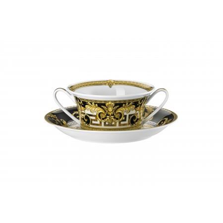 Versace Prestige Gala Creamsoup Cup & Saucer set 2 pc.
