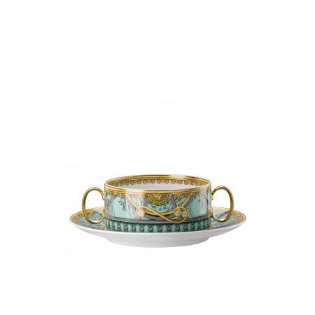 Versace Scala del Palazzo Verde - Creamsoup Cup & Saucer