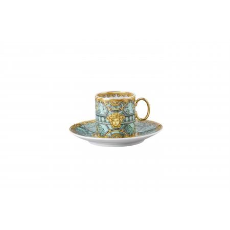 Versace Scala del Palazzo Verde - Espresso Cup & Saucer set 2 pcs.