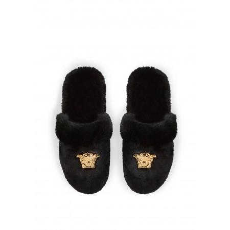LOGOMANIA Slippers - BLACK