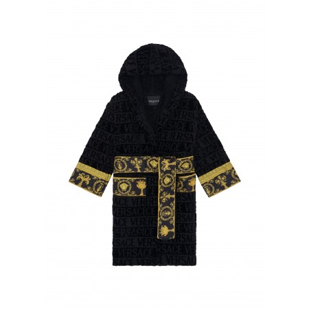 BAROCCO & ROBE HOODED ROBE KIDS Black