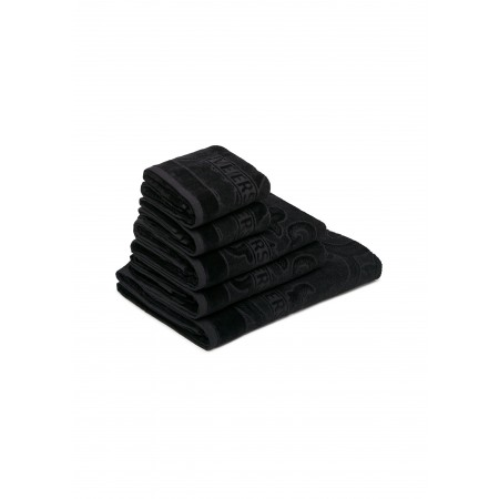ARABESQUE 5 PIECE TOWEL SET - BLACK