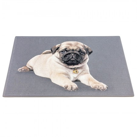 LONELY PUG DOORMAT