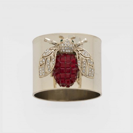 Ruby Sparkle Bee Napkin Ring